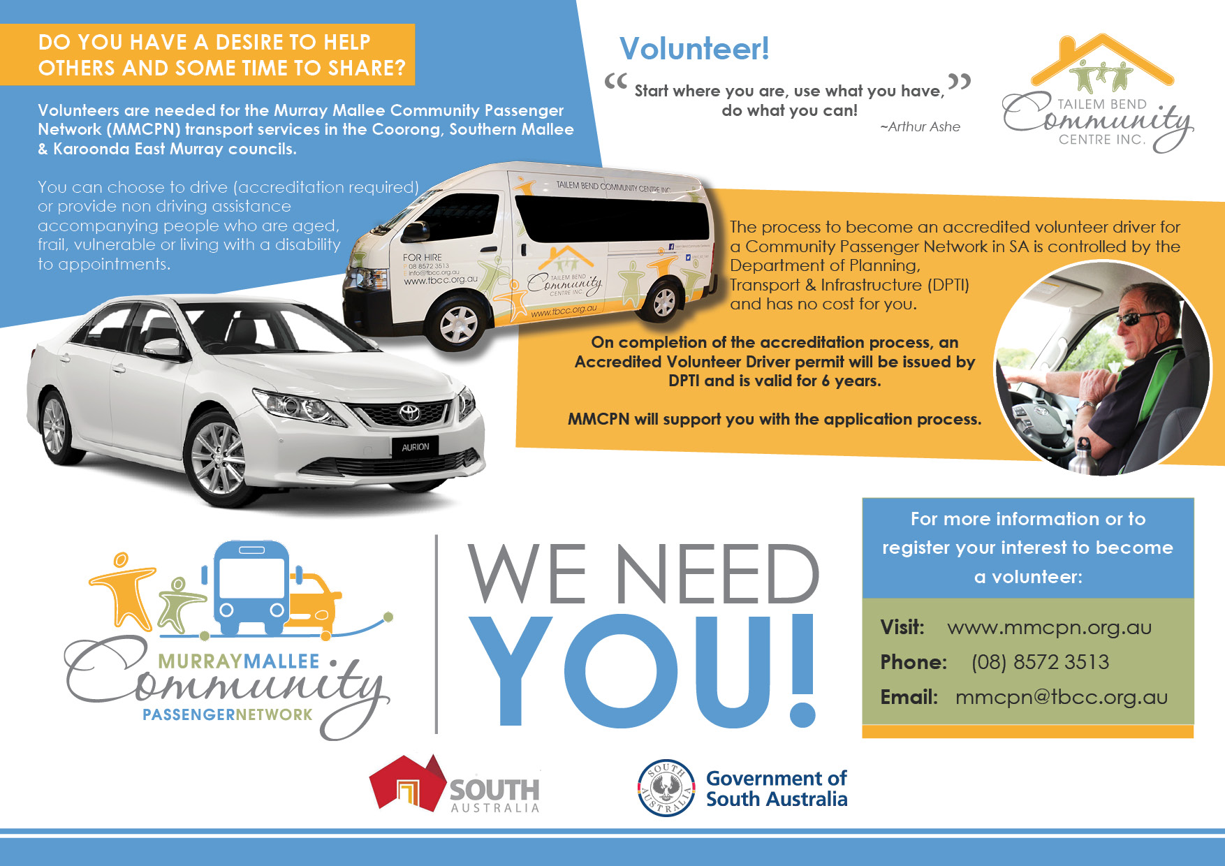 Murray Mallee Community Passenger Network needs volunteer drivers