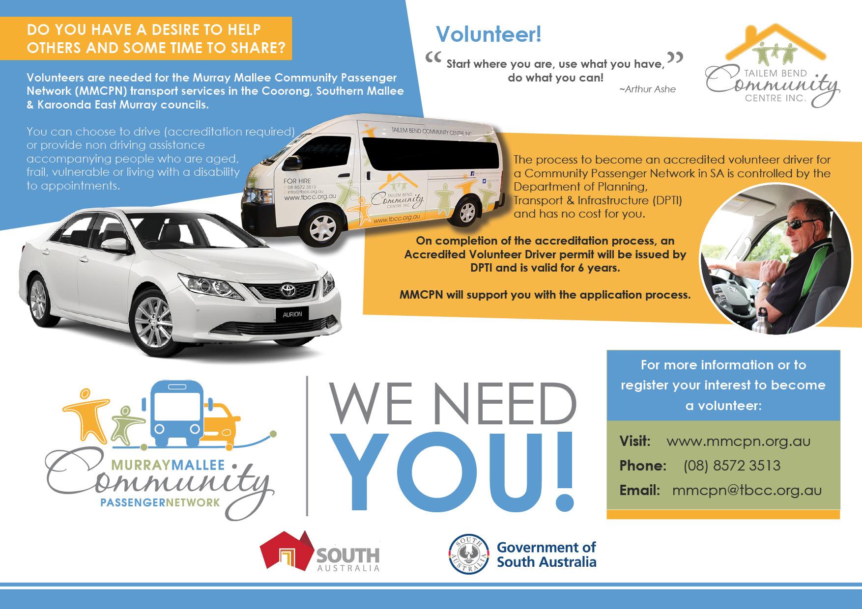 Murray Mallee Community Passenger Network needs volunteer drivers