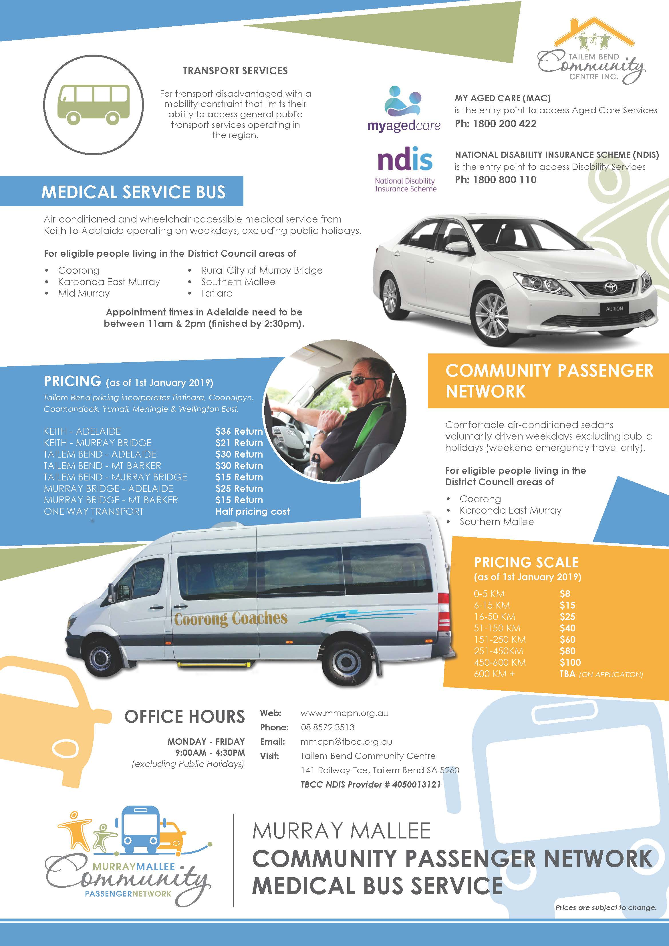 Murray Mallee Community Passenger Network Medical Bus service